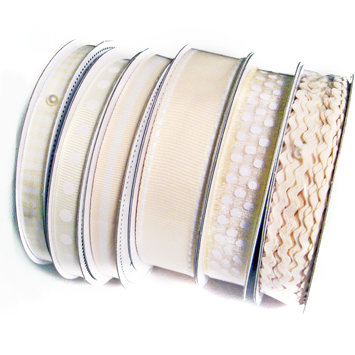 Bazzill Basics - Ribbon Bulk Pack - 90 Yards - Cream, CLEARANCE