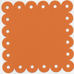 Bazzill Basics - 12x12 Scalloped Cardstock with Large Eyelets - Festive