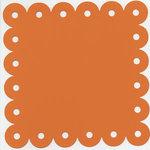 Bazzill Basics - 12x12 Scalloped Cardstock with Large Eyelets - Festive