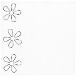 Bazzill Basics - In Stitch'z Cardstock - Flowers - Brilliant White