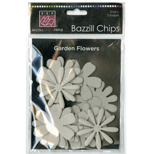 Bazzill - Chips - Die Cut Chipboard Shapes - Garden Flowers