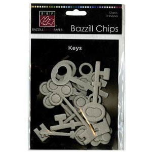 Bazzill Basics - Chips - Die Cut Chipboard Shapes - Keys