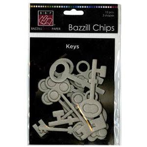 Bazzill Basics - Chips - Die Cut Chipboard Shapes - Keys