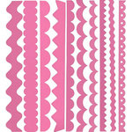 Bazzill Basics - Just the Edge - 12 Inch Cardstock Strips - Chablis, CLEARANCE