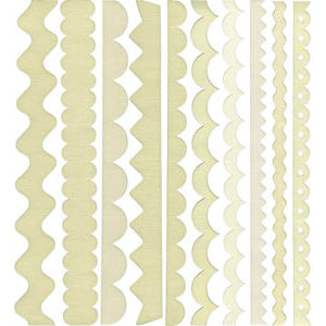 Bazzill - Just the Edge - 12 Inch Cardstock Strips - French Vanilla