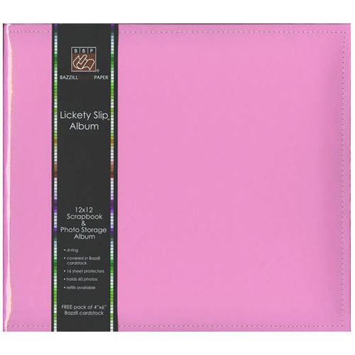 Bazzill Basics - Lickety Slip - 12x12 D-Ring Album - Chablis