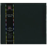 Bazzill Basics - Lickety Slip - 12x12 D-Ring Album - Beetle Black