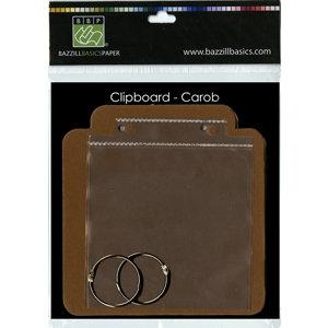 Bazzill Basics - Board Book - Clipboard Chipboard Album - Carob, CLEARANCE