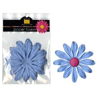 Bazzill Basics - Paper Flowers - Gerbera 4 Inch - Slate Blue, CLEARANCE