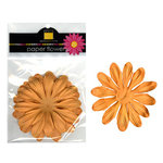 Bazzill Basics - Paper Flowers - Gerbera 3 Inch - Creamsicle, CLEARANCE