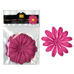 Bazzill Basics - Paper Flowers - Gerbera 3 Inch - Hot Pink, CLEARANCE