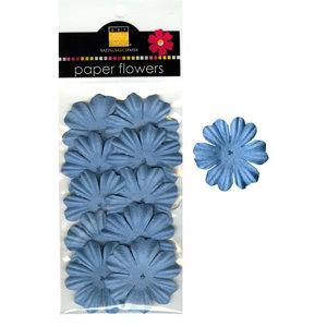 Bazzill Basics - Paper Flowers - Primula 1.5 Inch - Slate Blue, CLEARANCE