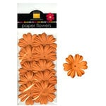 Bazzill Basics - Paper Flowers - Primula 1 Inch - Creamsicle, CLEARANCE