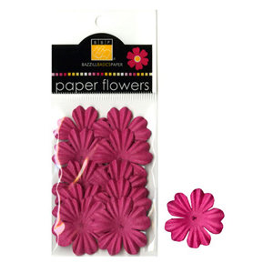 Bazzill Basics - Paper Flowers - Primula 1 Inch - Hot Pink, CLEARANCE