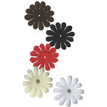 Bazzill Basics - Bitty Blossoms - 60 Assorted Flowers - 1.5 Inch - Neutrals, CLEARANCE