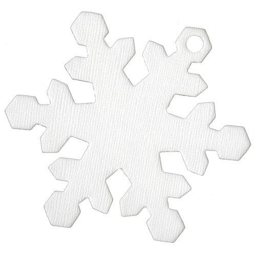 Bazzill Basics - Chips - Chipboard Tags - Snowflake