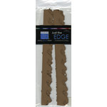 Bazzill Basics - Just the Edge - 12 Inch Cardstock Strips - Walnut, CLEARANCE