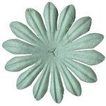 Bazzill Basics - Paper Flowers - 1.25 Inch Daisy - Aqua, CLEARANCE