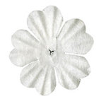 Bazzill Basics - Paper Flowers - 1 Inch Primula - White, CLEARANCE