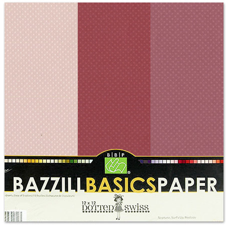 Bazzill - Dotted Swiss - 12 x 12 Cardstock Pack - 15 Sheets - Blissful Trio
