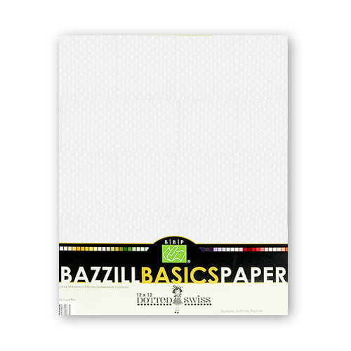 Bazzill - Dotted Swiss - 8.5 x 11 Cardstock Pack - 25 Sheets - Salt