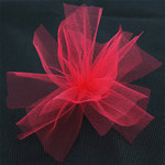 Bazzill Basics - Ribbon - 25 Yards - 3 Inch Tulle - Candy Apple