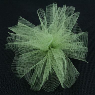 Bazzill Basics - Ribbon - 25 Yards - 3 Inch Tulle - Parakeet, CLEARANCE