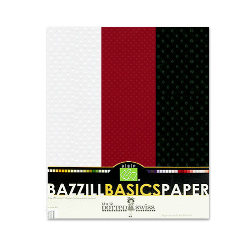 Bazzill - Dotted Swiss - 8.5 x 11 Cardstock Pack - 15 Sheets - Phoenix Trio