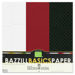 Bazzill - Dotted Swiss - 12 x 12 Cardstock Pack - 15 Sheets - Phoenix Trio