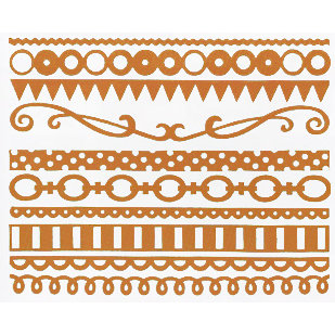 Bazzill Basics - Just the Edge III - 12 Inch Cardstock Strips - Festive, CLEARANCE