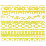Bazzill Basics - Just the Edge III - 12 Inch Cardstock Strips - Lemon Drop, CLEARANCE
