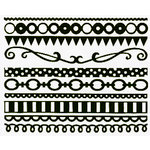Bazzill - Just the Edge III - 12 Inch Cardstock Strips - Beetle Black