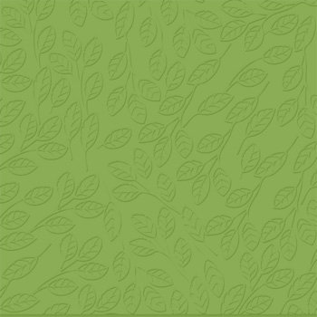 Bazzill - 12 x 12 Embossed Cardstock - Peek-a-boo Leaves - Parakeet