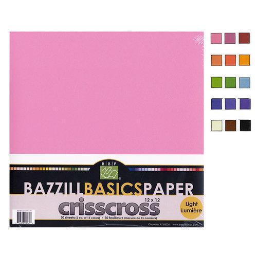 Bazzill - Criss Cross - 12 x 12 Cardstock Pack - 30 Sheets - Criss Cross Dark