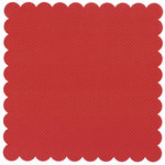 Bazzill Basics - 12 x 12 Square Scalloped Cardstock - Dotted Swiss - Phoenix