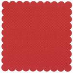 Bazzill Basics - 12 x 12 Square Scalloped Cardstock - Dotted Swiss - Phoenix