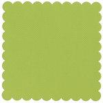 Bazzill Basics - 12 x 12 Square Scalloped Cardstock - Dotted Swiss - Irish Eyes