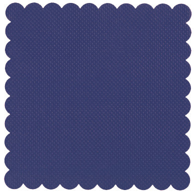 Bazzill Basics - 12 x 12 Square Scalloped Cardstock - Dotted Swiss - Deep Blue