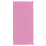 Bazzill Basics - Bulk Cardstock Pack - 25 Sheets - 5.5 x 11.5 Rectangle Scalloped - Dotted Swiss - Slipper, CLEARANCE