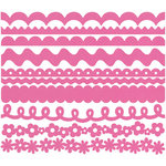 Bazzill Basics - Just The Edge - 12 Inch Cardstock Strips - Dotted Swiss - Slipper, CLEARANCE