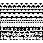 Bazzill - Just The Edge - 12 Inch Cardstock Strips - Dotted Swiss - Salt