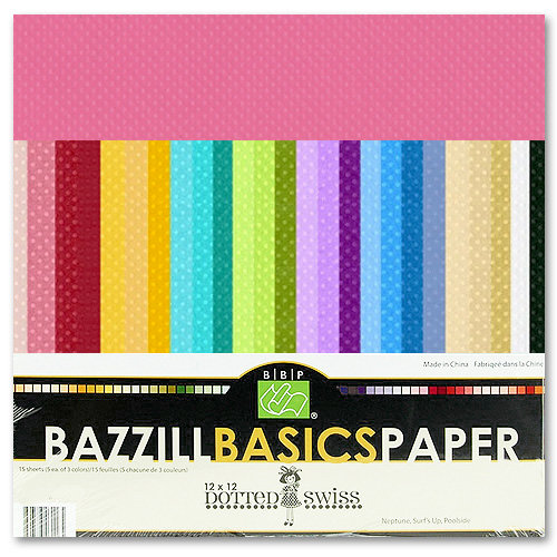 Bazzill - Dotted Swiss - 12 x 12 Cardstock Pack - 60 Sheets - Assorted