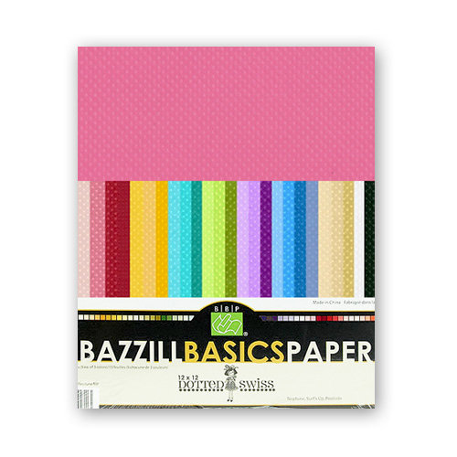 Bazzill - Dotted Swiss - 8.5 x 11 Cardstock Pack - 60 Sheets - Assorted