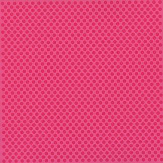 Bazzill - 12 x 12 Glazed Cardstock - Polka Dots - Pink Fairy