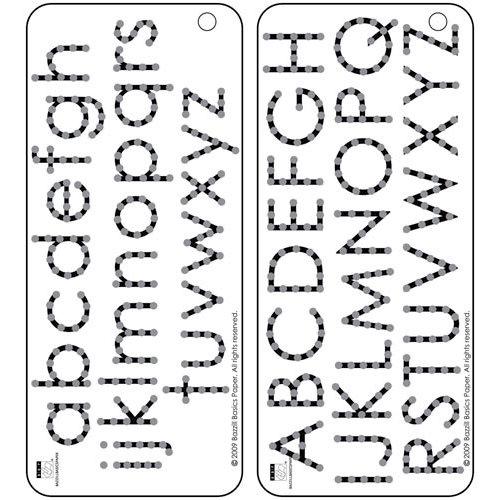 Bazzill - Jewel Templates - Alphabet