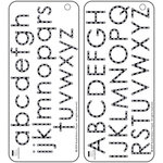 Bazzill - Jewel Templates - Alphabet