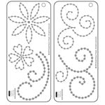 Bazzill - Jewel Templates - Flowers and Flourishes