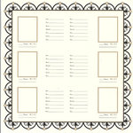Bazzill - Heritage Collection - 12 x 12 Paper - Family Group Chart 2