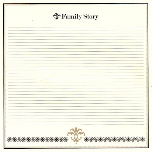 Bazzill - Heritage Collection - 12 x 12 Paper - Family Story