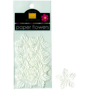 Bazzill Basics - Paper Flowers - Mini Poinsettias - White, CLEARANCE